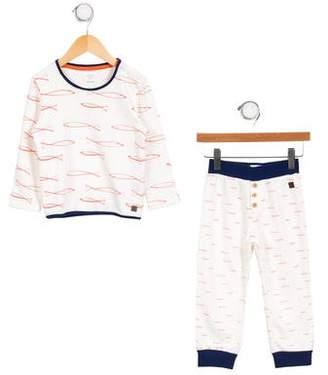 Carrèment Beau Boys' Fish Print Pajama Set w/ Tags