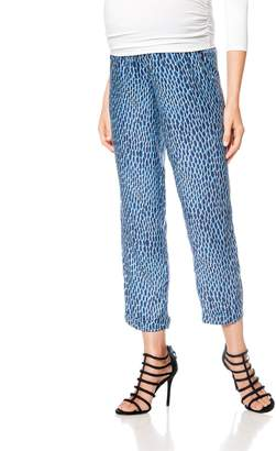 Isabella Oliver Pea Collection Crop Print Maternity Pants