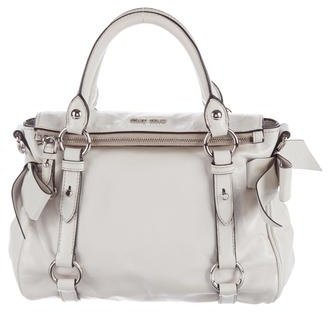 Miu Miu Miu Miu Glazed Leather Satchel