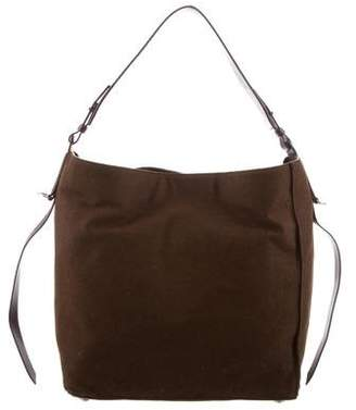 AllSaints Leather-Trimmed Wool Bag