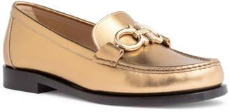 Salvatore Ferragamo Gold leather flats