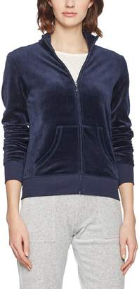 Juicy Couture Black Label Womens Fairfax Velour Slim Fit Track Jacket Navy XS