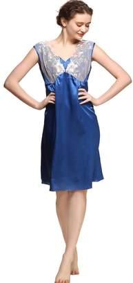 Pure Silk Sleepwear(Women) Forever Silk Women s 19 mm Pure Silk Gorgeous Sleepwear  Dress 384a55111
