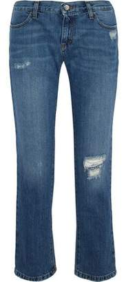 Iris & Ink Woman Karler Distressed Mid-rise Straight-leg Jeans Mid Denim Size 31 IRIS & INK Cheap Get To Buy Free Shipping Visa Payment From China Cheap Price 2d1P0G