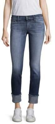 J Brand Jasper Reverse Hipster Low-Rise Cuff Jeans