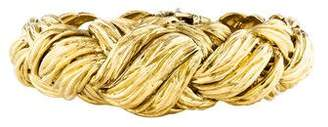 David Webb 18K Textured Woven Link Bracelet