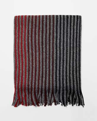 Express Merino Wool Blend Striped Scarf