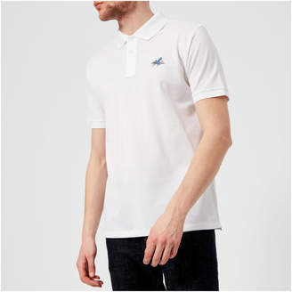 Men's Regular Fit Octopus Polo Shirt White