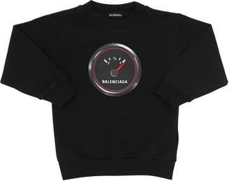 Balenciaga Speed Logo Cotton Sweatshirt