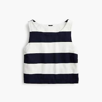 J.Crew Cropped rugby-striped tank top