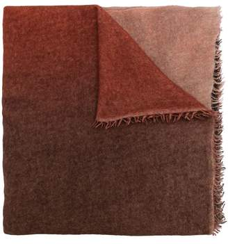 Faliero Sarti Adry ombre frayed scarf
