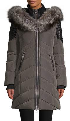 Nicole Benisti Cortina Fox Fur-Trim Down Jacket