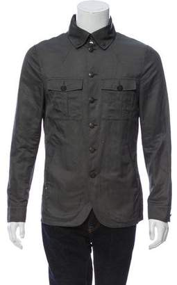 John Varvatos Twill Military Jacket