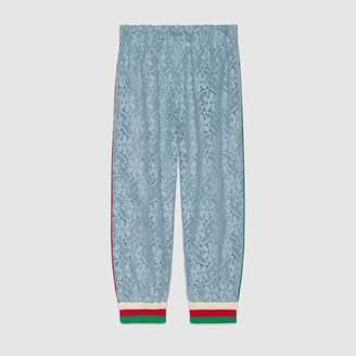 Gucci Children's flower lace jogging pant