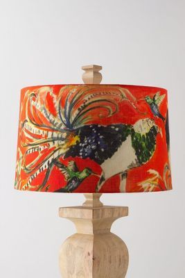 Anthropologie Ashley Longshore Avian Curiosities Lampshade