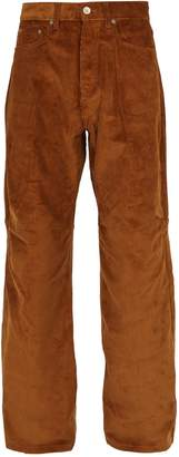 PHIPPS Wide-leg cotton-corduroy trousers