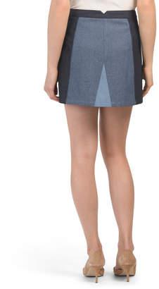 BCBGMAXAZRIA Color Blocked Mini Skirt
