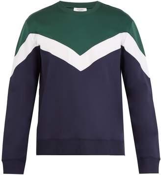 Valentino Tri-colour cotton-blend sweatshirt