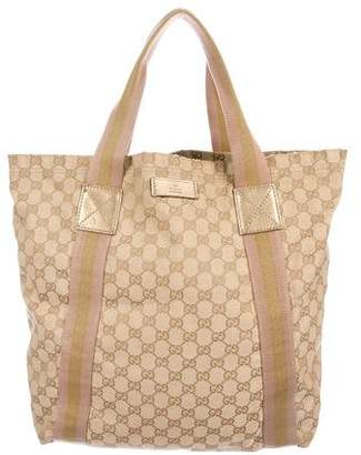 41269aaec85 Gucci Brown Canvas Tote Bags - ShopStyle