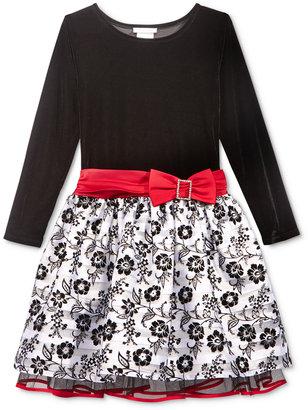 Bonnie Jean Stretch Velvet Dress, Big Girls (7-16) $68 thestylecure.com