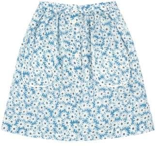 Bonton Sale - Nadége Daisy Buttoned Midi Skirt