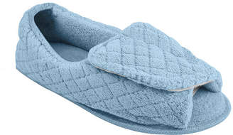 Muk Luks Adjustable Open Toe Micro Chenille Slippers