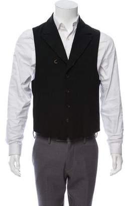 Attachment Peak-Lapel Textured Vest