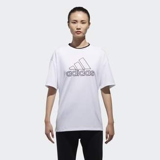 adidas (アディダス) - [MOUSSY] ビッグロゴTシャツ _BIG LOGO TEE MSY