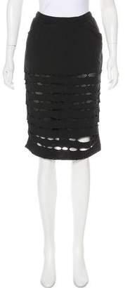 Drifter Distressed Knee-Length Skirt