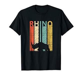 Rhino Vintage T-shirt Chubby Unicorn Tee Wild Animal Shirt