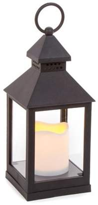 Darice Plastic Lantern with LED Candle - Black - 4.125 x 9.25 inches