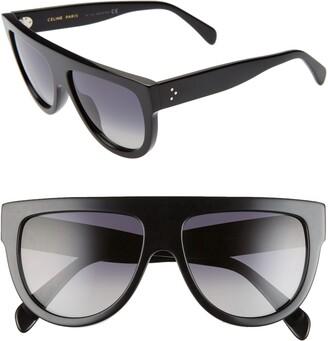 Celine 58mm Polarized Aviator Sunglasses