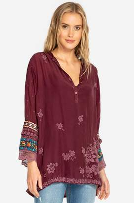 Johnny Was Fayan Patchwork Sleeve Tunic