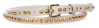 Brochu Walker Studded Leather Belt