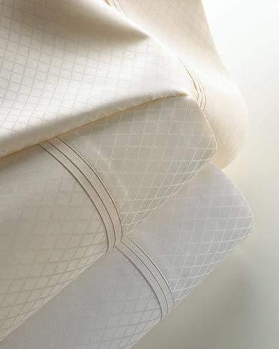 Matouk Queen 600TC Diamond Jacquard Sateen Sheet Set