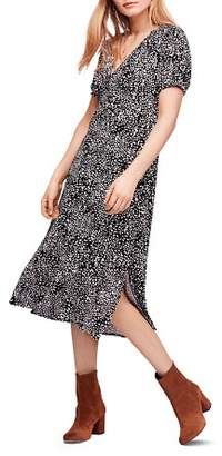 Free People Looking For Love Printed Midi Dress