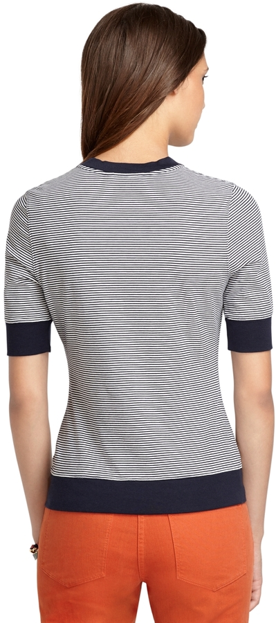 Brooks Brothers Striped Henley