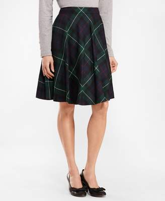 Brooks Brothers Tartan Wool Twill Circle Skirt