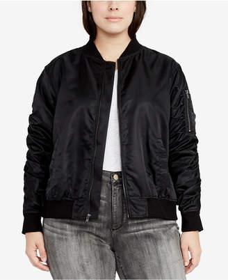 Rachel Roy Trendy Plus Size Bomber Jacket