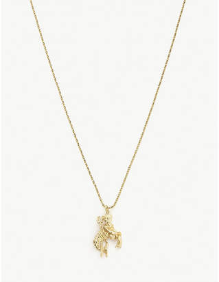 Vanessa Mooney Capricorn 24ct gold-plated necklace