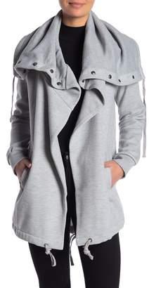 Blank NYC BLANKNYC Denim Funnel Neck Fleece Jacket