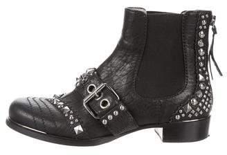 Miu Miu Studded Ankle Boots