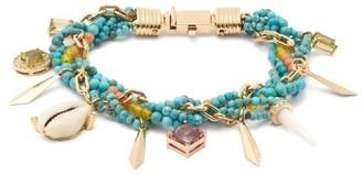 Hirsch Aron & Diamond, Amethyst & 18kt Gold Bracelet - Womens - Blue