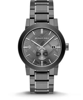 Burberry Men's City BU9902 Gunmetal Stainless-Steel Swiss Quartz Watch