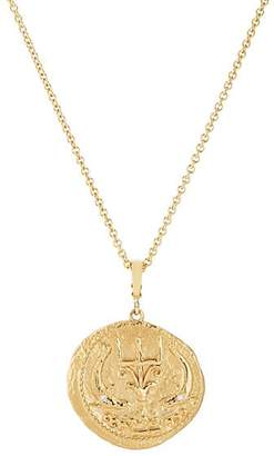 AZLEE Women's Of The Sea Large Coin Pendant Necklace - Gold