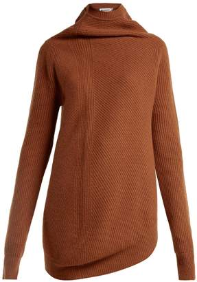 Jil Sander Asymmetric wool and cashmere-blend sweater