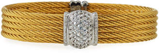 Alor Five-Row Stacked Bangle w/ White Sapphires