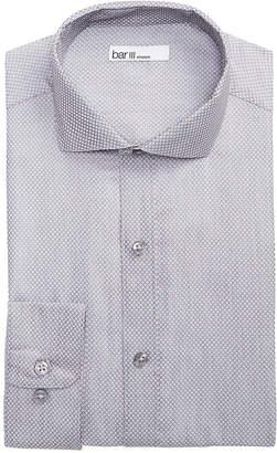Bar III Men's Slim-Fit Stretch Connected Diamond Dobby Dress Shirt