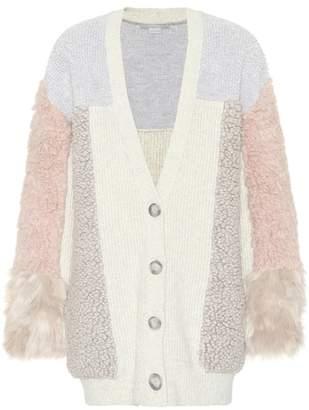 Stella McCartney Color-blocked cotton-blend cardigan