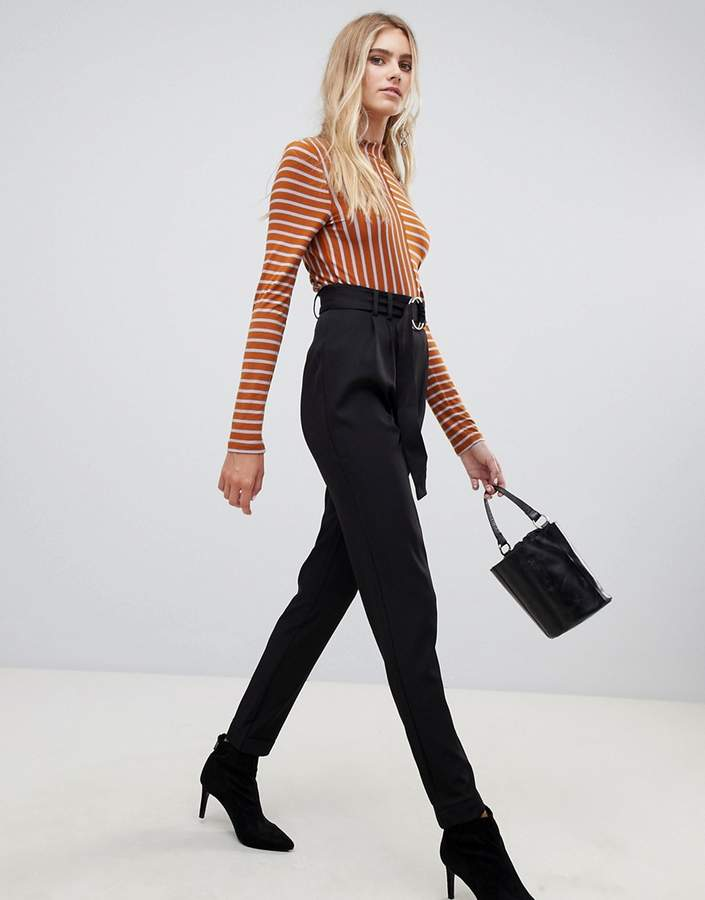 Katherine belted metalwork trousers